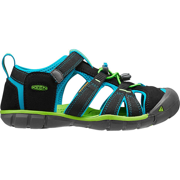Keen Seacamp II CNX Sandals Kinder black/blue danube