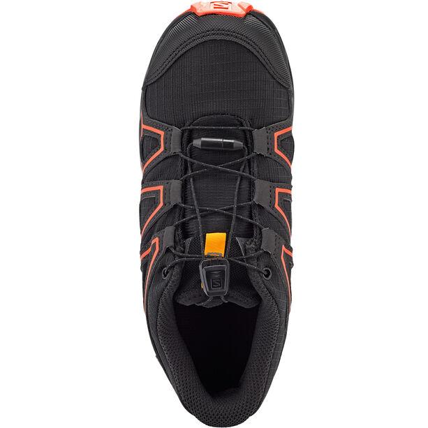 Salomon Speedcross CSWP Schuhe Kinder black/tangelo/cherry tomato