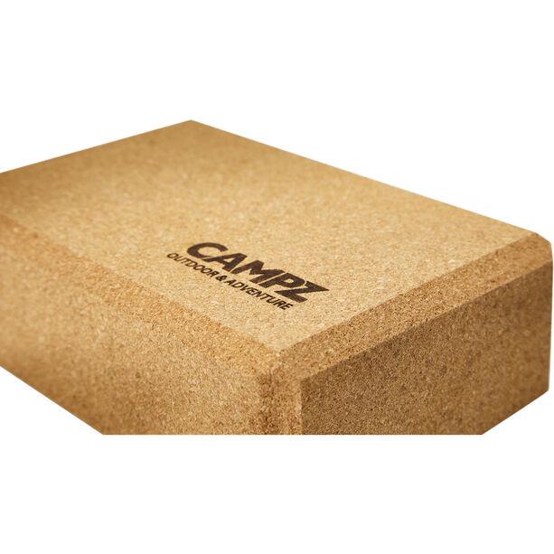 CAMPZ Cork Yoga Block 23 x 15 x 7,5 cm braun