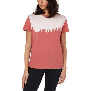 tentree Snow Juniper Kurzarm T-Shirt Damen mineral red snow fleck mineral red snow fleck