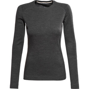 Smartwool Merino 250 Baselayer Crew Shirt Damen charcoal heather charcoal heather