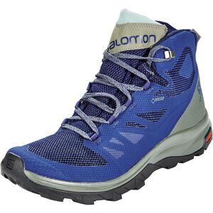 Salomon OUTline Mid GTX Shoes Herren medieval blue/castor gray/green milieu medieval blue/castor gray/green milieu