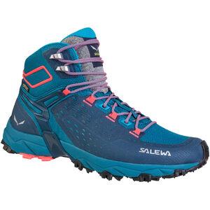 SALEWA Alpenrose Ultra Mid GTX Shoes Damen blue sapphire/fluo coral blue sapphire/fluo coral