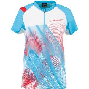 La Sportiva Veloce T-Shirt Damen malibu blue/white malibu blue/white