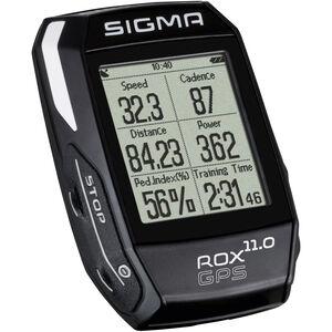 SIGMA SPORT ROX 11.0 GPS Fahrradcomputer Set schwarz schwarz
