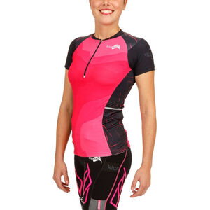 KiWAMi Equilibrium Trail Top Damen black/pink black/pink