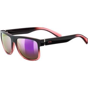 UVEX LGL 21 Glasses black rose/mirror pink black rose/mirror pink