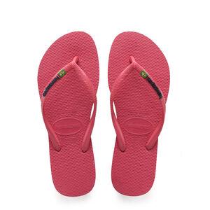 havaianas Slim Brasil Logo Flips Damen flamingo flamingo