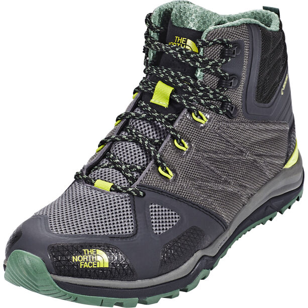 The North Face Ultra Fastpack II Mid GTX Shoes Herren phantom grey/lime green