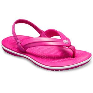 Crocs Crocband Strap Flip Sandals Kinder candy pink candy pink
