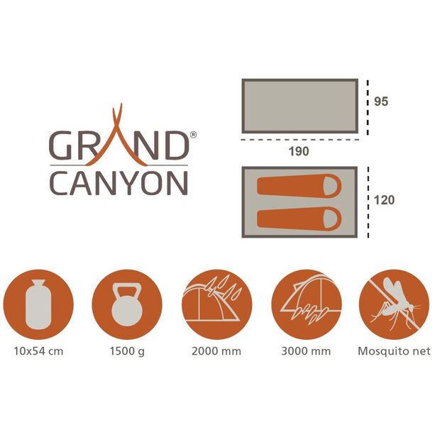 Grand Canyon Trenton 2 Zelt olive