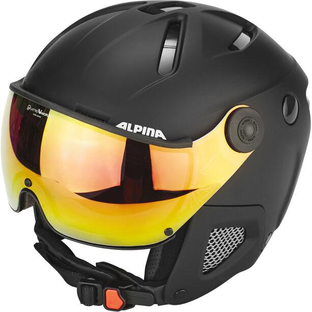 Alpina Attelas Visor QVM Helmet black matt
