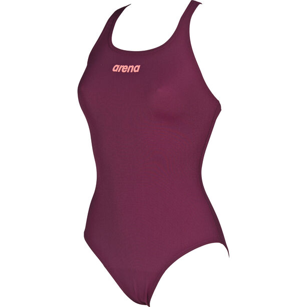 arena Solid Swim Pro One Piece Swimsuit Damen red wine-shiny pink
