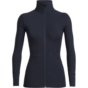 Icebreaker Descender Langarm Zip Jacke Damen midnight navy midnight navy