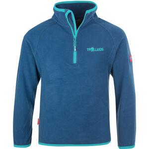 TROLLKIDS Nordland Half Zip Kinder midnight blue/dark mint midnight blue/dark mint