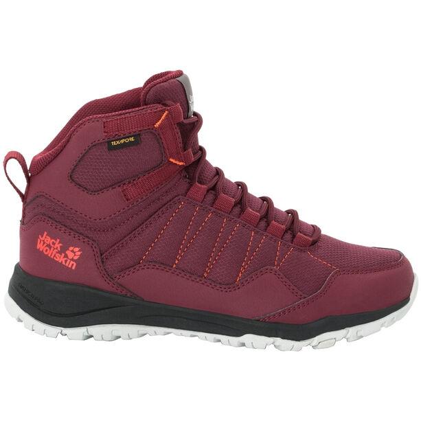 Jack Wolfskin Maze Texapore Mid-Cut Schuhe Damen burgundy/phantom