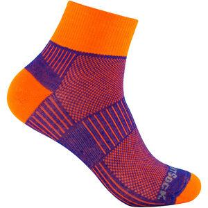 Wrightsock Coolmesh II Quarter Socks royal-orange royal-orange
