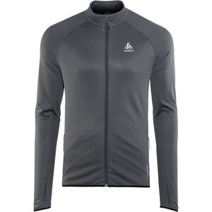 Odlo FLI Full-Zip Midlayer Herren black-odlo graphite grey-stripes black-odlo graphite grey-stripes