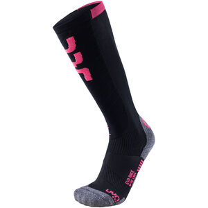 UYN Evo Race Ski Socken Damen black/pink paradise black/pink paradise