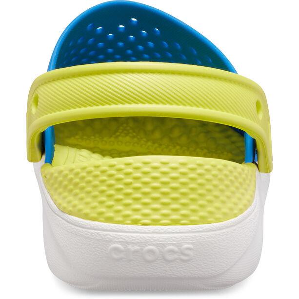 Crocs LiteRide Clogs Kinder bright cobalt/citrus