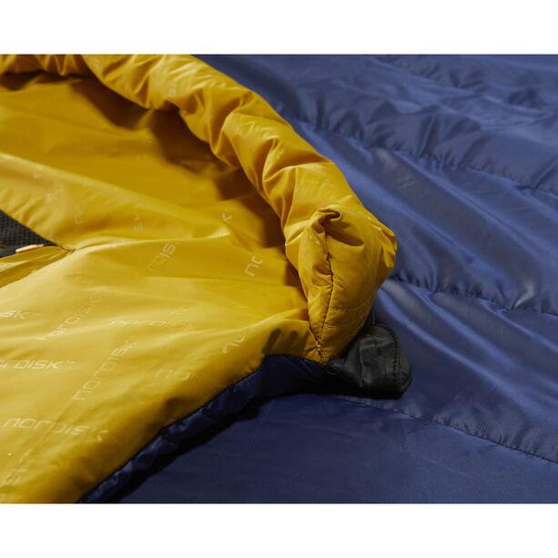 Nordisk Puk +4° Egg Schlafsack XL true navy/mustard yellow/black