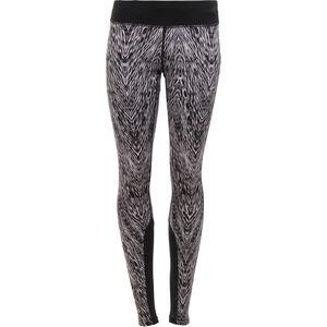 Nike Epic Printed Run Tights Damen black/mslvr black/mslvr