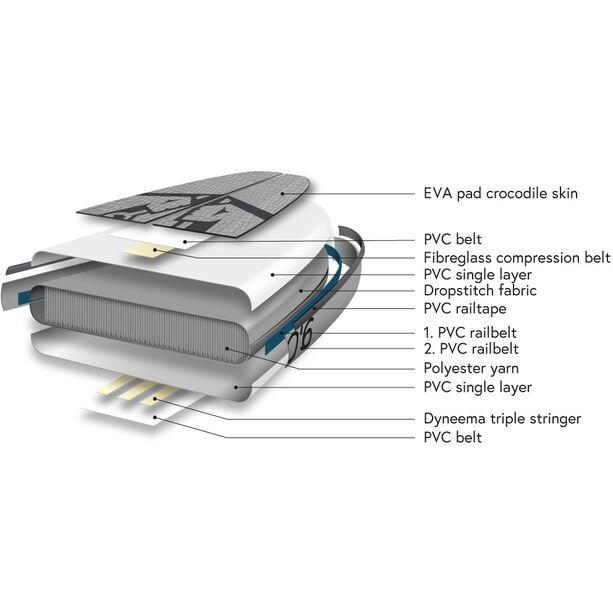 Indiana SUP 9'6 Allround LITE Pack Basic Aufblasbares SUP Board mit 3-teiligem Fiberglas/Composite Paddel