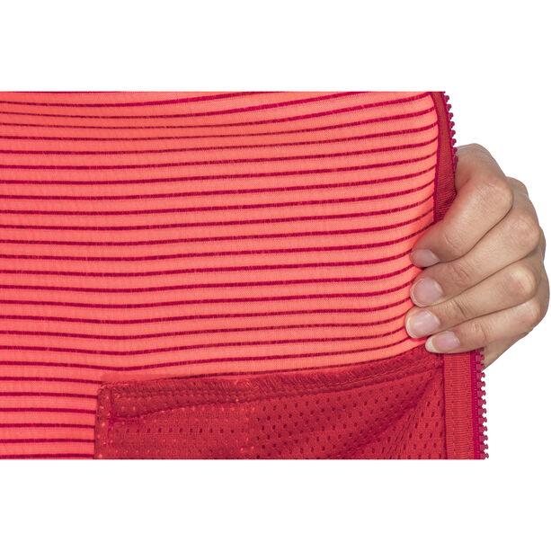 Meru Kalamata Fleece Hoodie Damen raspberry striped