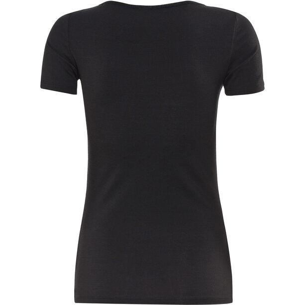 Icebreaker Siren SS Herzausschnitt Shirt Damen black