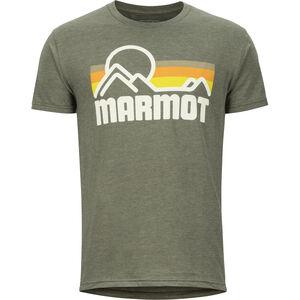 Marmot Coastal Kurzarm T-Shirt Herren new olive heather new olive heather