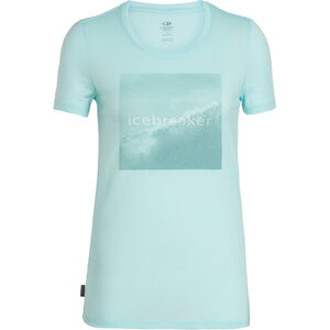 Icebreaker Tech Lite Cadence Pulse SS Low Rundhalsshirt Damen wavelogo/aqua splash wavelogo/aqua splash