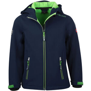 TROLLKIDS Trollfjord Jacke Kinder navy/light green navy/light green