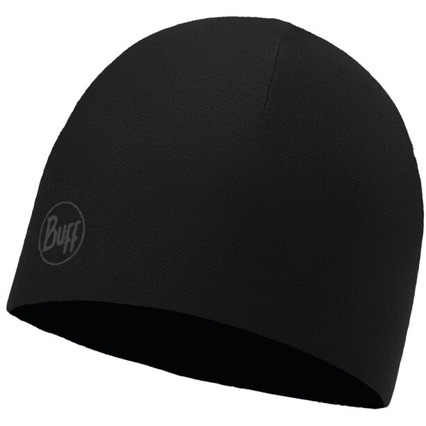 Buff Microfiber Reversible Hat reflective-solid black