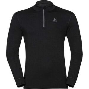 Odlo SUW Natural Half Zip Rollkragen Langarmshirt Herren black/black black/black