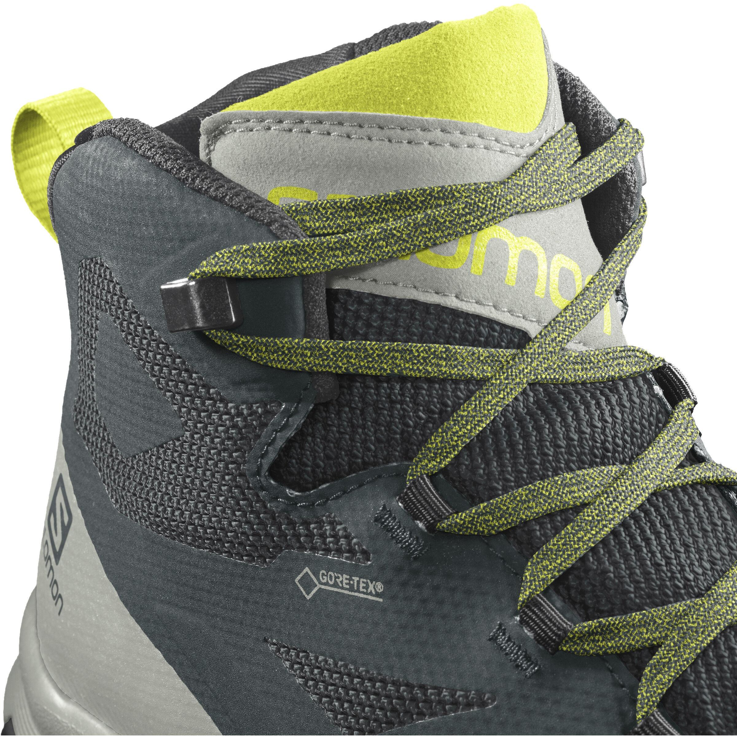 Salomon OUTline GTX Mid Cut Schuhe Herren green gablesmineral grayevening primrose