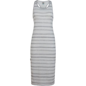 Icebreaker Yanni Tank Midi Dress Damen lunar heather/panther/scratch stripe lunar heather/panther/scratch stripe