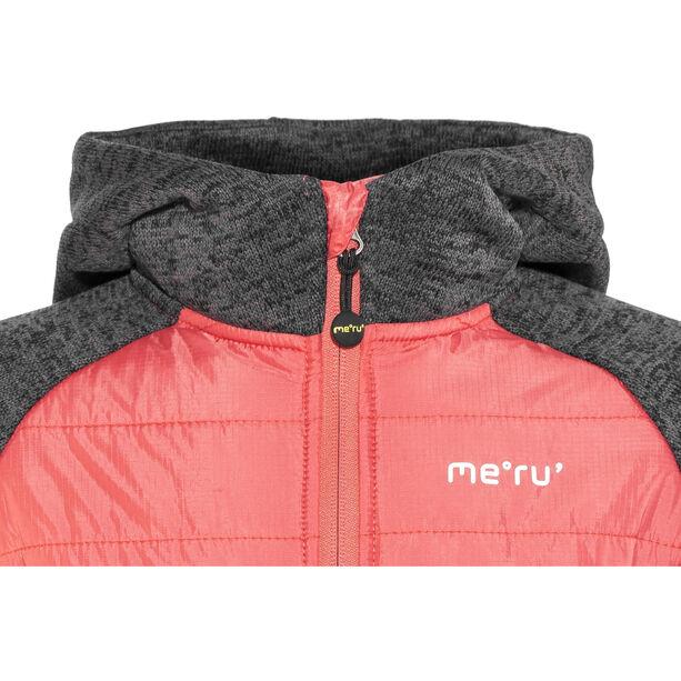Meru Prag Gefütterte Strickfleece Jacke Kinder carbon/pink