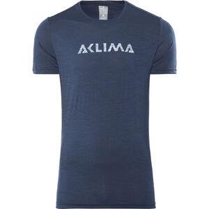 Aclima Lightwool Logo T-Shirt Herren insignia blue insignia blue