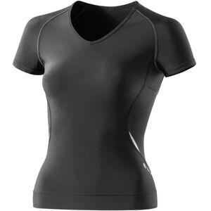 Skins A400 Top Shortsleeve Damen black/silver black/silver