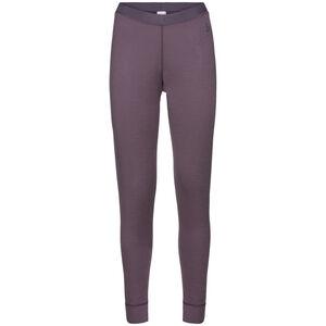 Odlo Natural 100% Merino Warm Suw Lange Unterhose Damen vintage violet vintage violet