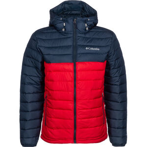 Columbia Powder Lite Hooded Jacket Herren mountain red/collegiate navy mountain red/collegiate navy