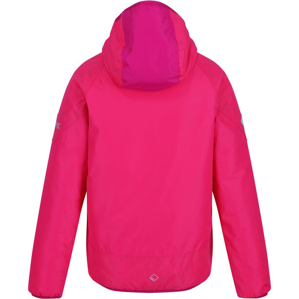 Regatta Volcanics III Jacke Mädchen neon pink reflective/duchess