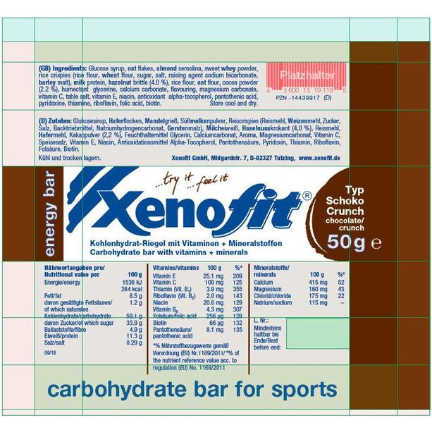 Xenofit Kohlenhydrat Riegel Box 18x50g Schoko/Crunch
