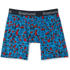 Smartwool Merino 150 Print Boxer Boxershorts Herren ocean blue balabar print ocean blue balabar print
