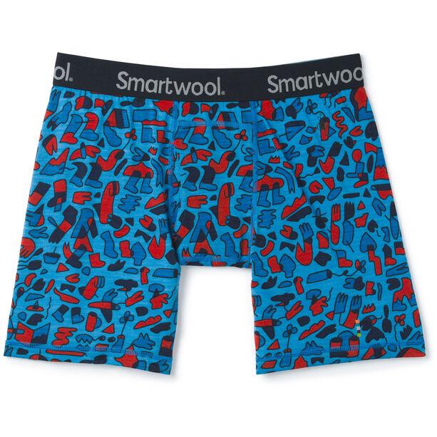 Smartwool Merino 150 Print Boxer Boxershorts Herren ocean blue balabar print