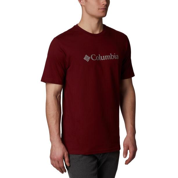Columbia CSC Basic Logo Shortsleeve Shirt Herren red jasper