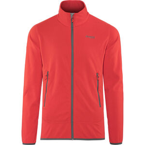 Bergans Lovund Fleece Jacket Herren fire red/solid dark grey fire red/solid dark grey