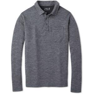 Smartwool Merino 250 Langarm Polo Herren medium gray tick stitch medium gray tick stitch