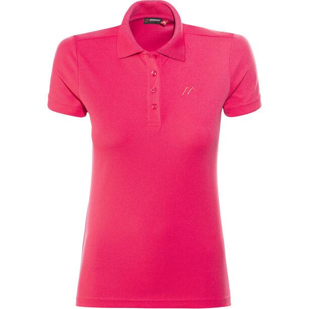Maier Sports Ulrike Polo Shirt Damen raspberry