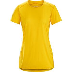 Arc'teryx Phase SL SS Rundhalsshirt Damen golden poppy golden poppy